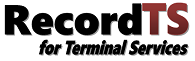 RecordTS for Terminal Services Image
