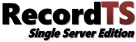 RecordTS Single Server Edition Image